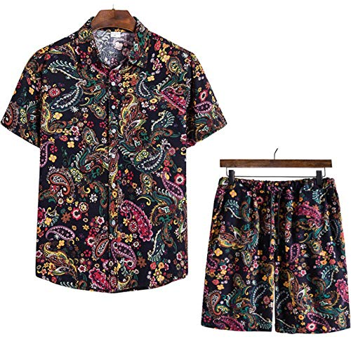 Sets Cortos Traje de chándal para Hombres T Shirt + Shorts Conjuntos...