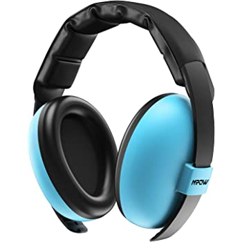 Mpow Baby Ear Portection, NRR 31dB Noise Reduction Ear Muffs, Toddler Ear Defenders for Live Concerts, Fireworks, Festivals, Construction Work and Subway and Airplane-Sky Blue