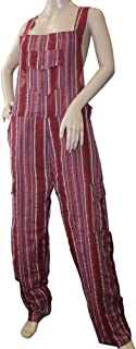 Sirius Funky Striped Cotton Combat Dungarees - Nepalese Brightly Coloured Dungarees