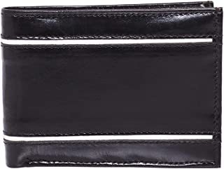 Laveri Waterproof Wallet for Men - Leather, Black and White