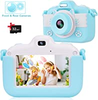 barchrons Instant Print Digital Camera for Kids 1080P Rechargeable Shockproof Camcorder Video Camera with 16G SD Card Ideal Toy for 3-12 Years Old Girls Boys Party Outdoor Indoor