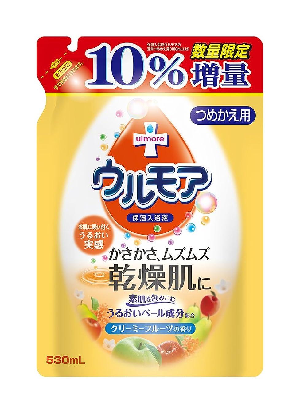 枠スペース香りアース製薬 ウルモア クリーミーフルーツ替え増量 530mL