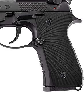 Cool Hand Beretta 92/96 Grips, Screws Included, Full Size, Sunburst Texture, Black G10, B92-J6-1