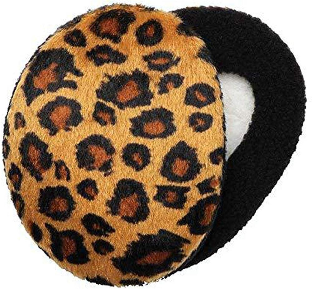 Melodyblue Fashion Warm Earmuffs Independent Earmuffs Single Ear Warmer Earmuffs Men's Earmuffs Children's Ear Warmers-Leopard