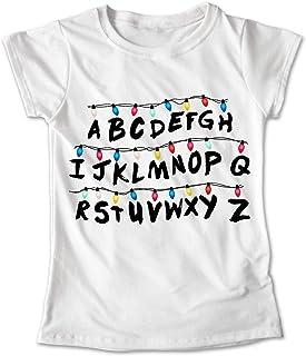 IMAGINE Shop - Blusa Mujer Niña - Estampado Stranger Things Focos - Personalizado #020 (S Niña)