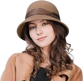 2019 New Wool Felt Cloche Fedora Hat Ladies Church Derby Party Fashion Winter