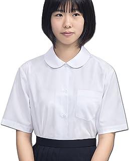 品 スクールショールブラウス オフィス制服 半袖 丸襟 抗菌防臭 ノーアイロン 白