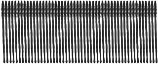 50 stuks wegwerp wimperborstel siliconen mascara-applicator met PP-handgreep voor wimperextensions en liften(Type zwarte t...