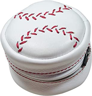 Hide & Drink, Leather Baseball Stitch Pouch, Cable and Earphones Holder, Cash/Coin Organizer, MLB Accessories, Handmade Includes 101 Year Warranty :: White