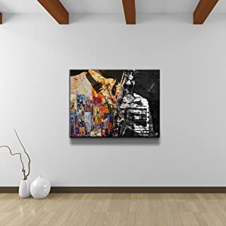 Ready2HangArt Color of Jazz II Oversized Abstract Modern Contemporary Canvas Wall Art Print, 30