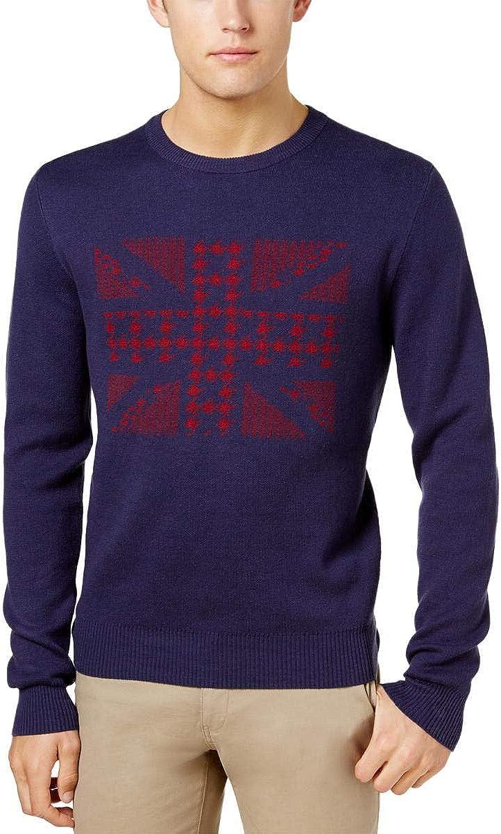 Ben Sherman Men's Union Jack Jacquard Sweater