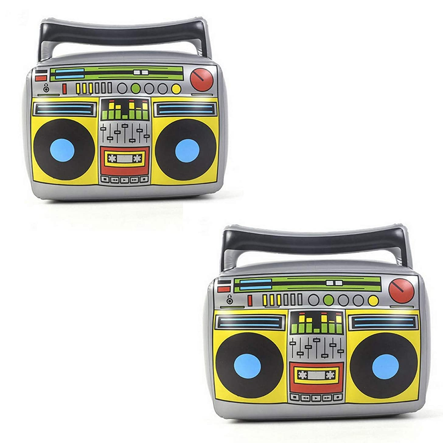 """20"""" Party Inflatable Boom Box PVC Radio, Inflatable Props 80s Party Decorations, Pack of 2"""