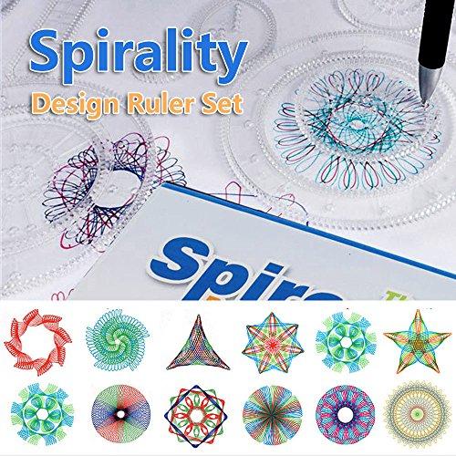 Comficent Spirograph de la marca plástico Geometric Ruler Espirógrafo Diseño Kit de...