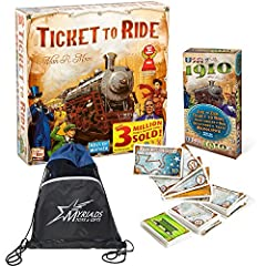 One of the most popular specialty games of all time! Designed for 2 to 5 players, each game takes 30 to 60 minutes to play to completion. Ticket to Ride enacts a cross-country train adventure. Players collect cards representing various kinds of train...