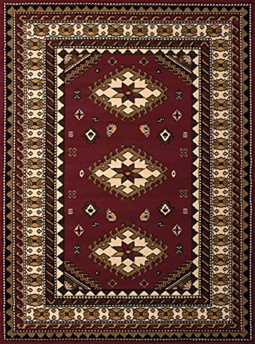 United Weavers of America Dallas Tres Rug, 8 x 10', Burgundy