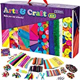 GoodyKing Kids Arts & Crafts Supplies - 1100+ Materials Art and Craft Kit Toy Busy Board Box for Kid Girls Boys Teens Age 4 5 6 7 8-12 Gifts with Storage Crafting Box Art Set School Gift Creative