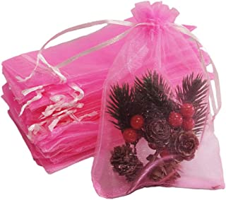 10 organza slip pink organ bags gift bags