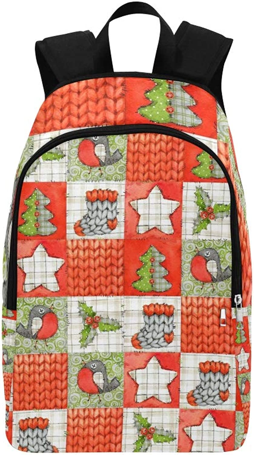 Christmas Winter Casual Daypack Travel Bag College School Backpack for Mens and Women
