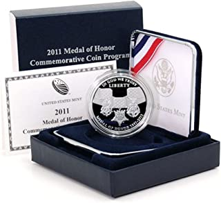 2011 P Commemorative Medal Of Honor Silver Dollar Proof US Mint
