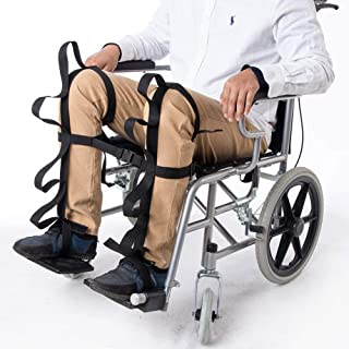 Fushida A Pair Leg Lifters with 4 Handle, Lifting Assist with Quick Release Buckles, Legs Lifter for Disabled Elderly in Wheelchairs(FYH103)