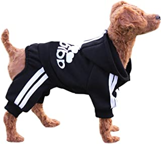 EastCities Winter Puppy Hoodie for Small Dogs Warm Coat Sweater Four Legs Pet Clothes for Dog Cat