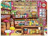 Educa Borras - Genuine Puzzles, Puzzle 1.000 piezas, Tienda de dulces (17104)