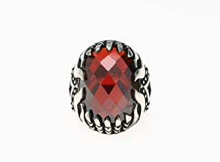 Turkish Silver Ring with Zircon Stone for Men, 1123