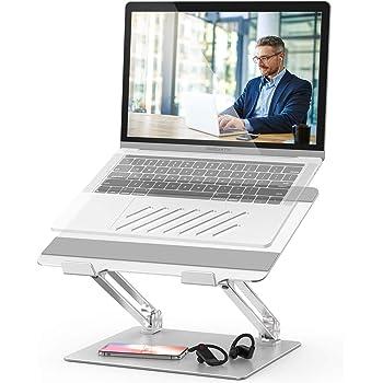 POVO Supporto per Portatile, Supporto PC Portatile Multi-Angolo Regolabile per 10-17 Pollici Laptop Inclusi MacBook, HP, dell, Lenovo, Huawei Notebook Argento