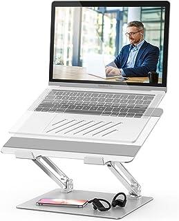 Laptopständer Einstellbar Notebook Ständer mit Heat Vent Multi Angle Kompatibel für 10 17 Zoll Laptops einschließlich MacBook Pro/Air, Lenovo, Samsung, Dell, HP (Silber)