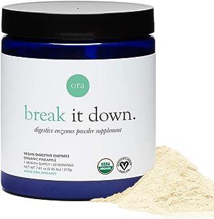 Ora Organic Plant-Based Digestive Enzymes Powder, 210g