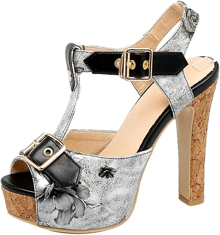 TAOFFEN Women T Strap Sandals shoes