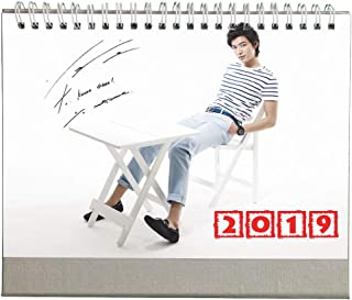 Fanstown Lee Min ho 2019 Calendar My Everything with Free lomo Card Keychain Collective Desk Calendar