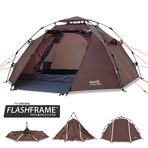bdba5f0a376 Slumit CUB 2 Instant Tent 2 Man Waterproof Double Layer FlashFrame Quick  Pitch Tent and Pack