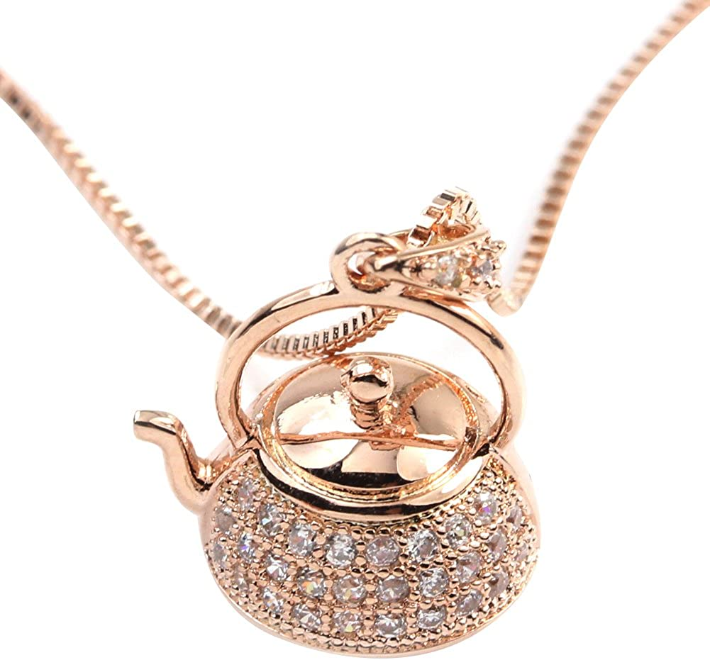 FC JORY White Rose Gold GP Crystal Girl Pendant Women Los Angeles Mall CZ Challenge the lowest price of Japan Cute