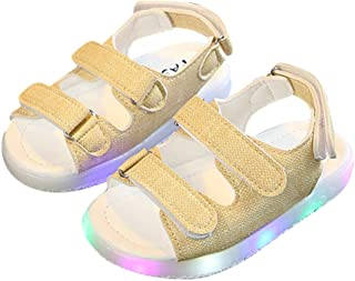 Hopscotch Baby Boys and Baby Girls Hemp Solid Sandal in Yellow Color