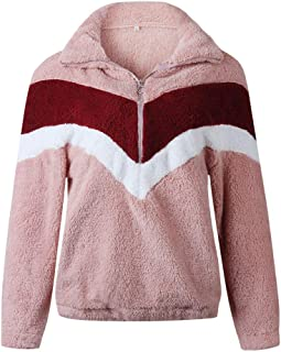 Casual Patchwork Flannel Pullover Tops Blouse Sweatshirt, Long Sleeve Lapel Pullover Top Zipper Tops Tundra Jacket