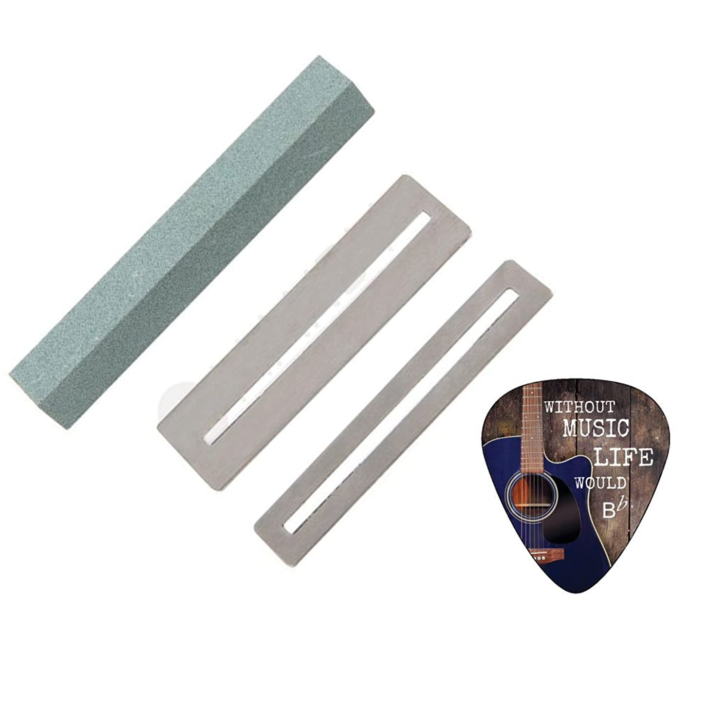 Fingerboard Guards and Guitar Fret File Cleaning Tool Set by Creanoso