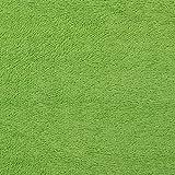 Frottee uni limegrün - Preis gilt für 0,5 Meter