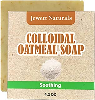 Colloidal Oatmeal Eczema And Psoriasis Soap 4.2 Ounces. Vegan & Handmade With Shea Butter, Cocoa Butter to help Combat Irr...