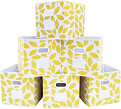 MAX Houser Fabric Storage Bins Cubes Baskets Containers with Dual Plastic Handles for Home Closet Bedroom Drawers Organize...