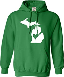 Go All Out Adult and Youth I Love Michigan I Heart Michigan Sweatshirt Hoodie