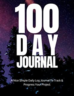 100 Day Journal : Stars & Forest Design A Planner For Bloggers