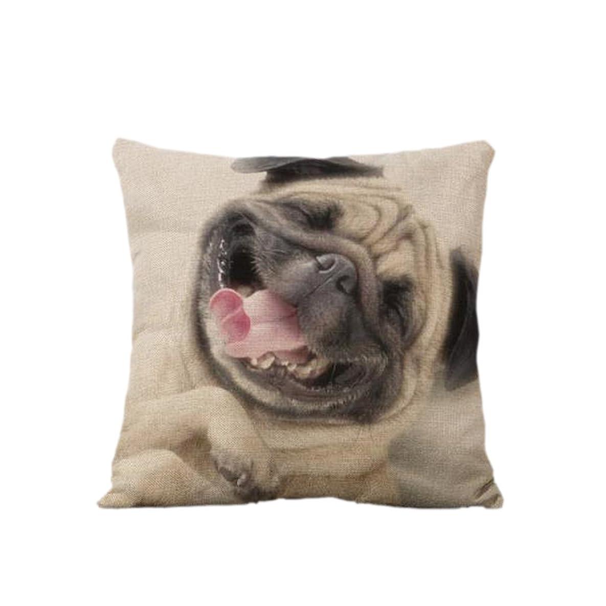 大きさ薄いです親密な耐久性 コットンリネン製 クッション カバー 枕カバー ベッド ソファ 装飾 45*45cm