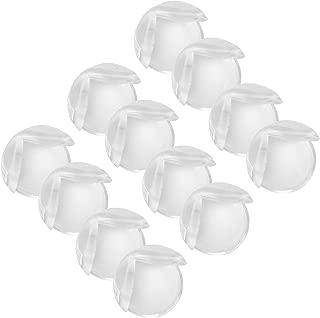 Demiawaking Paraspigoli Trasparenti per Bambini Protezione Angoli Bambini in Silicone Trasparente a Forma di Palla Paraspigoli di Protezione e Sicurezza per Tavolo e Mobili 10pcs