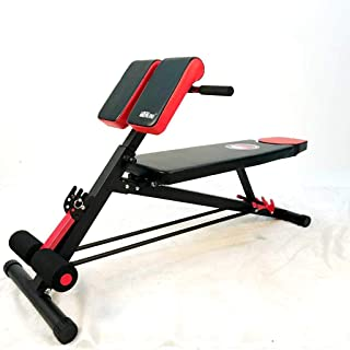 Marshal Fitness Multi-Functional Bench for Full All-in-One Body Workout Hyper Back Extension, Roman Chair, Adjustable Ab S...