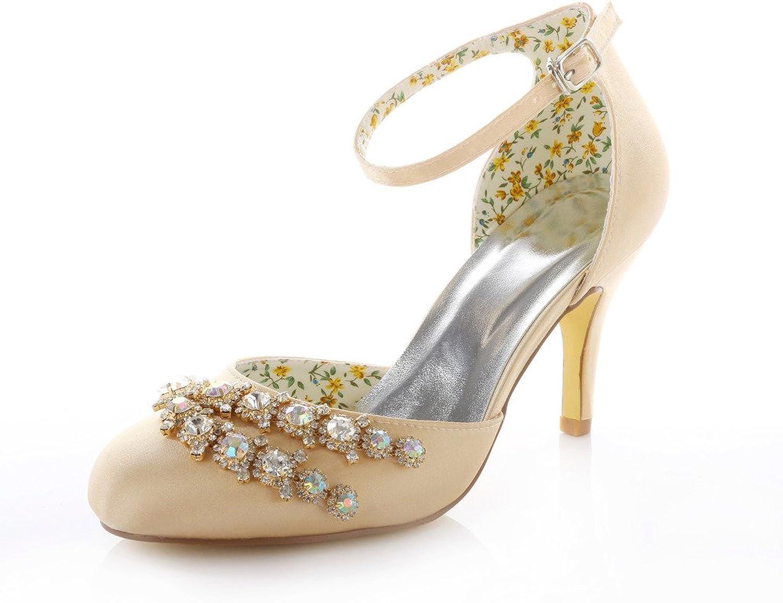 Monie Women's Multi Crystal Prom Dress Round Toe Pumps