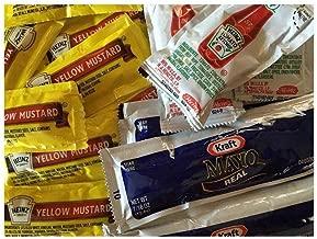 Heinz Ketchup & Mustard, Kraft Mayo packets 25 packets each