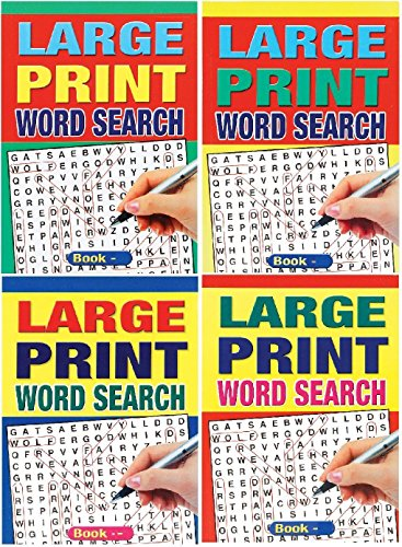 WF Graham Set of 4 Large Print A5 Size 74 Page Word Search Puzzle Books