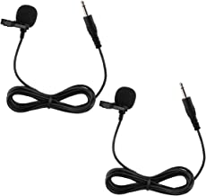 Dreokee Mini Microphone, 3.5mm Clip on Mic Small Microphone with 1.5m Wire for Phone Speaker Omnidirectional Mic Pack of 2