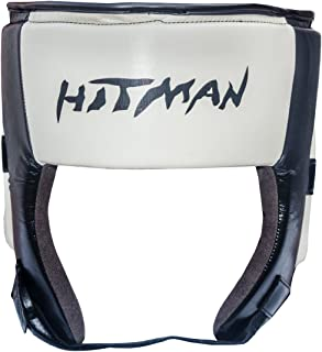 Hitman Prestige Micro Leather Black/Cream Boxing Head Guard